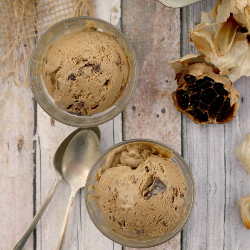 Black Garlic Chocolate Chunk Ice Cream