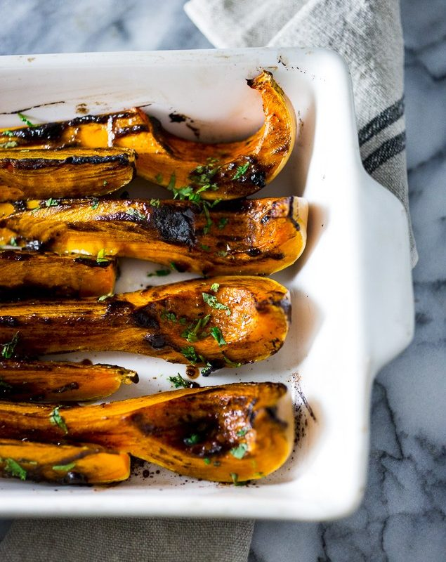 roasted butternut with black garlic & miso