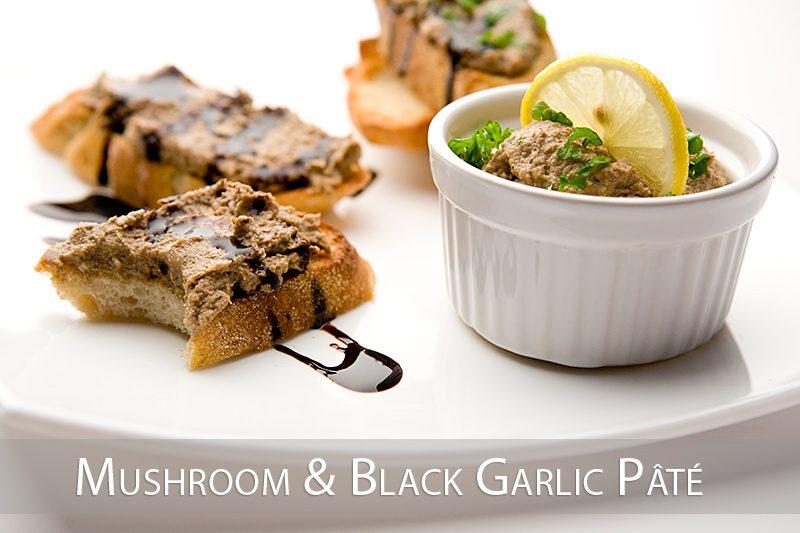 Paté de champignons et ail noir