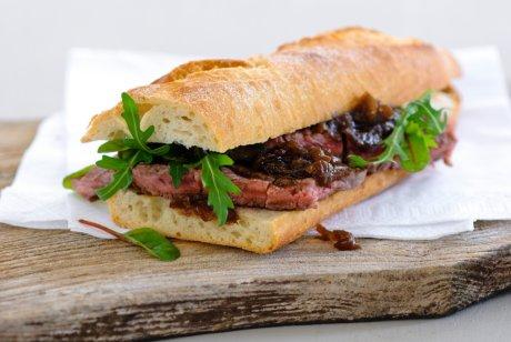 Black Garlic Steak Sandwich